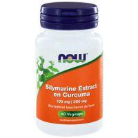 Silymarine Extract 150 mg en Curcuma 350 mg Now