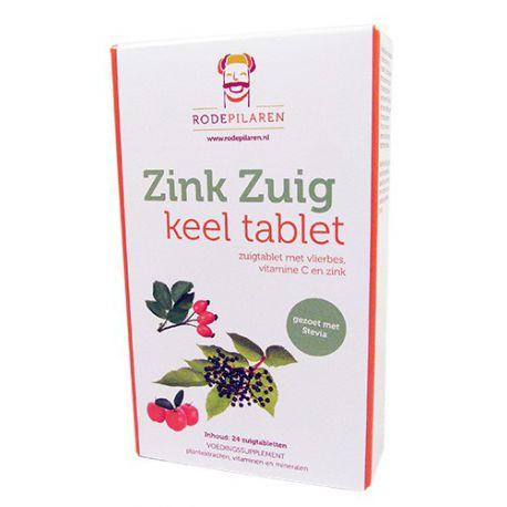 Zink Zuig keel tablet  Rode Pilaren + Gratis Pillendoosje