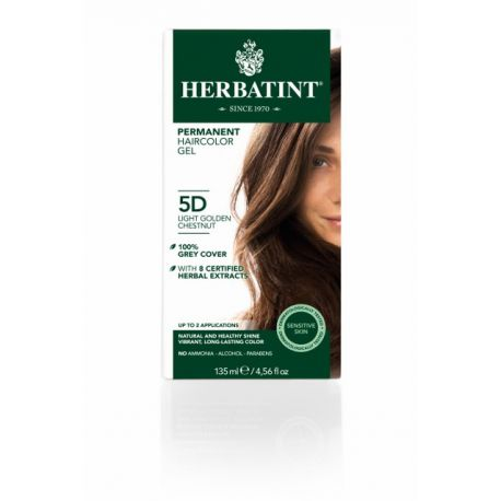 5D Lichtgoud Kastanje Haarverf Herbatint